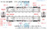 キハ52-100 盛岡所属車 標記等位置まとめ