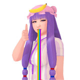 Patchouli Knowledge is puking rainbow.