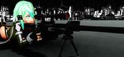 【MMD】へカートⅡによる超距離狙撃を行うシノンさん_その1【GGO】