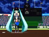 1052C-Reミクさんで投球練習