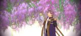 紫の青葉に交じる
