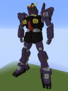 【minecraft】ガンダムMk‐Ⅱ(ティターンズカラー)