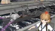 駆逐艦「朧」の蟹光線