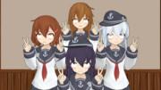 笑顔な第六駆逐隊