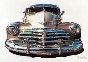 色鉛筆画「Chevrolet Fleetline」
