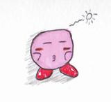 【手書き】眠そうなカービィ