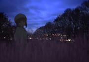 雪歩 夜 写真合成