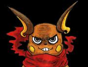赤マフラー巻いた雷鼠