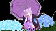 「姉ちゃんの傘借りちゃった(喜) もっと雨ふれぇ~」