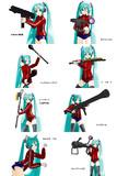 ミク(体操着仕様)に武器を持たせてみた ジオン編