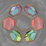 六角形の鏡