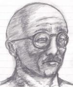 [父の日](戦時大日本帝国の)お父さん 鉛筆画 照り