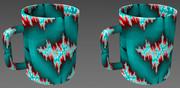 立体視画像49「フラクタルマグカップ」