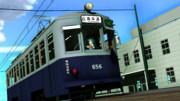 路面電車の日 広電650型 復元塗装