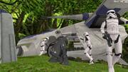 墜落機を確認!