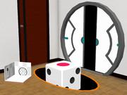 Portal風の紳士枠・ドアとサイコロ【MMDアクセサリ配布】