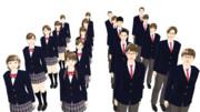 【MMDモデル配布】WEP式エキストラ全員学生パック(単体モデル版)