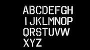 【自作モデル】ステンシルアルファベットセット