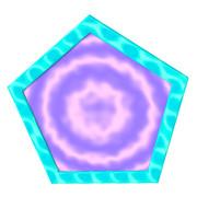 五角形コースター2