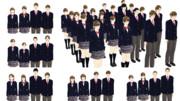 【MMDモデル配布】WEP式エキストラ全員学生パック(セットモデル版)