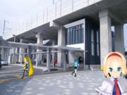 西金沢駅を賑やかにしてみたかった