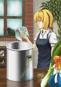 修行中-鍋とコップとマーガトロイドさん描いてみた