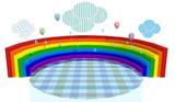 虹と雨ステージ配布