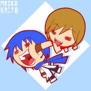 MEIKOとKAITOがきゃっきゃうふふ