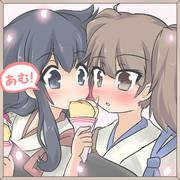 赤城「加賀さんのも、美味しそうですね!!」