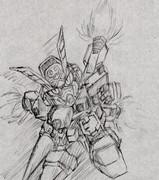 大昔に描いたクロスボーンガンダムX2。