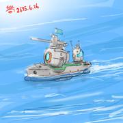 海上機動するモビルスーツ