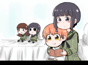 卵ボーロを食べるGIFアニメ