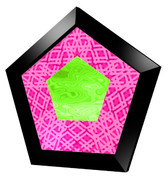 五角形コースター4