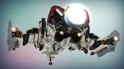 ギャラガ ファイターGFX-DⅢ 着陸態勢