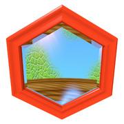 六角形の鏡6