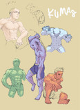 筋肉 色塗り練習