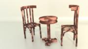 【MMD】イタリア風カフェテーブルと椅子【配布】