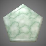 大理石の五角形コースター