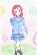 西木野真姫を描いてみた