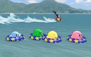 夏の海のカービィ