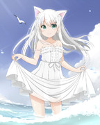 白髪猫耳娘