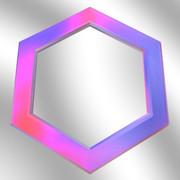 六角形の鏡8