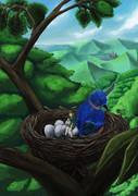 修行中-鳥の巣描いてみた