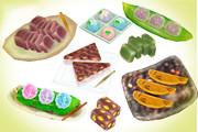 夏の和菓子セットver1.0