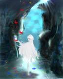 海中洞窟で