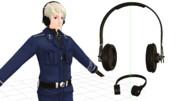 【MMD】ミリタリーヘッドフォン・マイクセット Ver.1.1【アクセサリ配布】