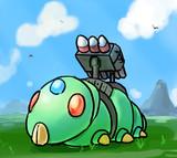 キャタピラー型ミサイル戦車