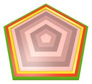 五角形コースター10