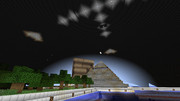 【Minecraft建築部】ジオフロントの外壁づくり
