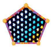 五角形コースター15
